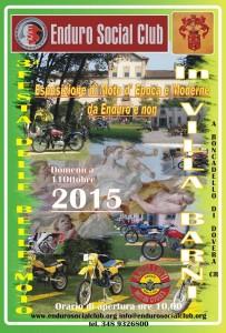 locandina esposizione moto in villa 2015